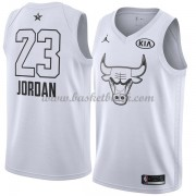 Chicago Bulls Michael Jordan 23# Vit 2018 All Star Game NBA Basketlinne..